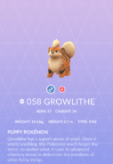 Growlithe Pokedex