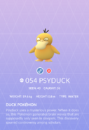 Psyduck Pokedex