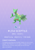 Sceptile Pokedex