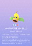 Weepinbell Pokedex