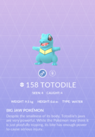 Totodile Pokedex