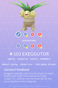 Exeggutor Pokedex
