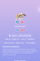 Linoone Pokedex