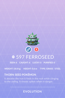 Ferroseed Pokedex