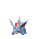 Nidorino party hat shiny