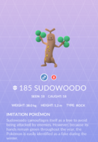 Sudowoodo Pokedex