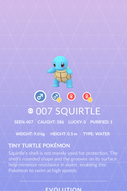 Squirtle Pokedex
