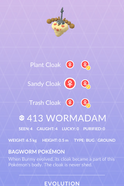 Wormadam Sandy Pokedex
