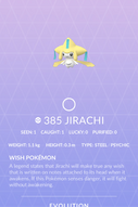 Jirachi Pokedex