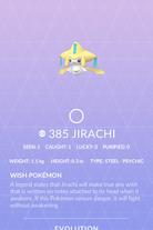 Jirachi Pokedex