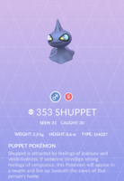 Shuppet Pokedex