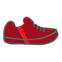 Shoes F Red Stripe