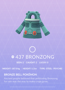 Bronzong Pokedex