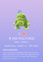 Politoed Pokedex
