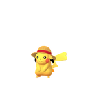 Pikachu female straw hat