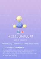 Jumpluff Pokedex