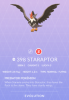 Staraptor Pokedex
