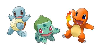 Pokemon iniciales de Kanto