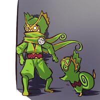 Ninja desa rumput & Kecleon