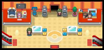 Pokémon League lobby DP