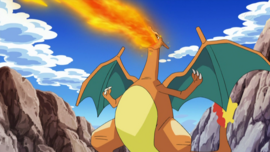 Ash Charizard newly evolved