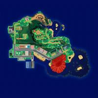 Map Mele-Mele Wzgórze Dziesięciu Karatów