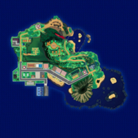 Map Mele-Mele Jaskinia ku Morzu