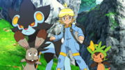 F19 Clemont and his Pokemon