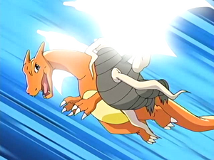 Ash Charizard Steel Wing