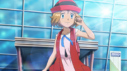 EP943 Serena arriving in Hoenn