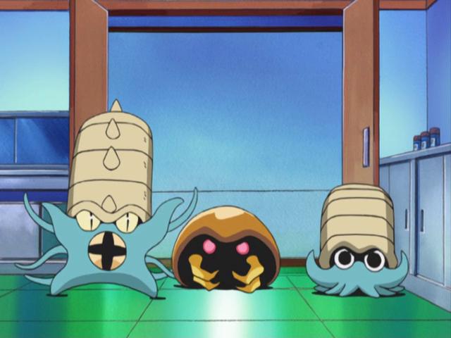 Omanyte Kabuto Omastar anime