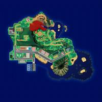 Map Mele-Mele Zielenista Jaskinia