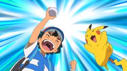 Ash catches a Pokémon SM