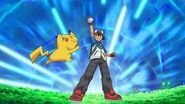 Ash catches a Pokemon