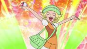 Bianca catch a Pokemon