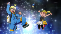 EP808 Clemont catches a Pokemon