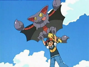 Ash riding Gliscor