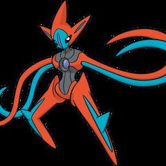 O pokémon alienígena, Deoxys, em sua forma de ataque.
