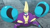 Crabrawler de Pandam no anime Sun e Moon