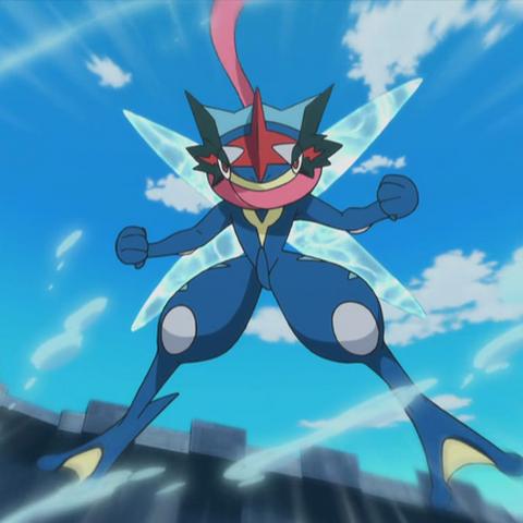 Ash-Greninja no anime