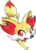 Fennekin de Malva em Pokémon Adventures
