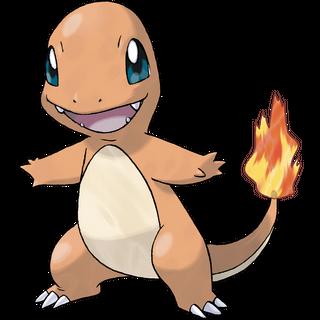 O pokémon inicial de fogo, <a href=