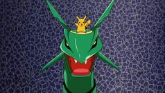 Rayquaza and Pikachu