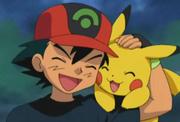 Pikachu com Ash