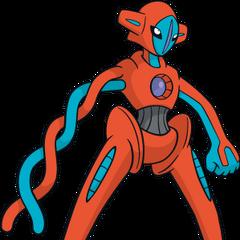O Pokémon alienígena, Deoxys, em sua forma normal.