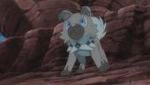 Rockruff de Ash no anime Sun e Moon