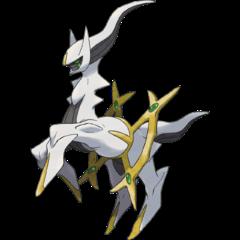 O deus dos Pokémon, Arceus.