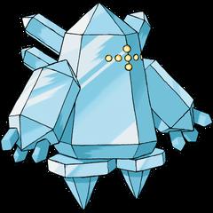 O pokémon inteiramente feito de gelo, Regice.