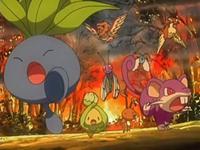 Pokemon uyendo del incendio