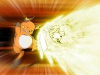 Pikachu usando Cola de hierro y tacleada de volteos
